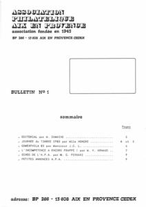 Bulletin 1 – Février1983