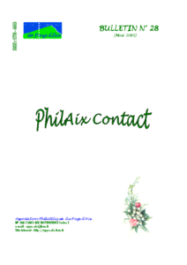 Bulletin 28 – Mai 2005